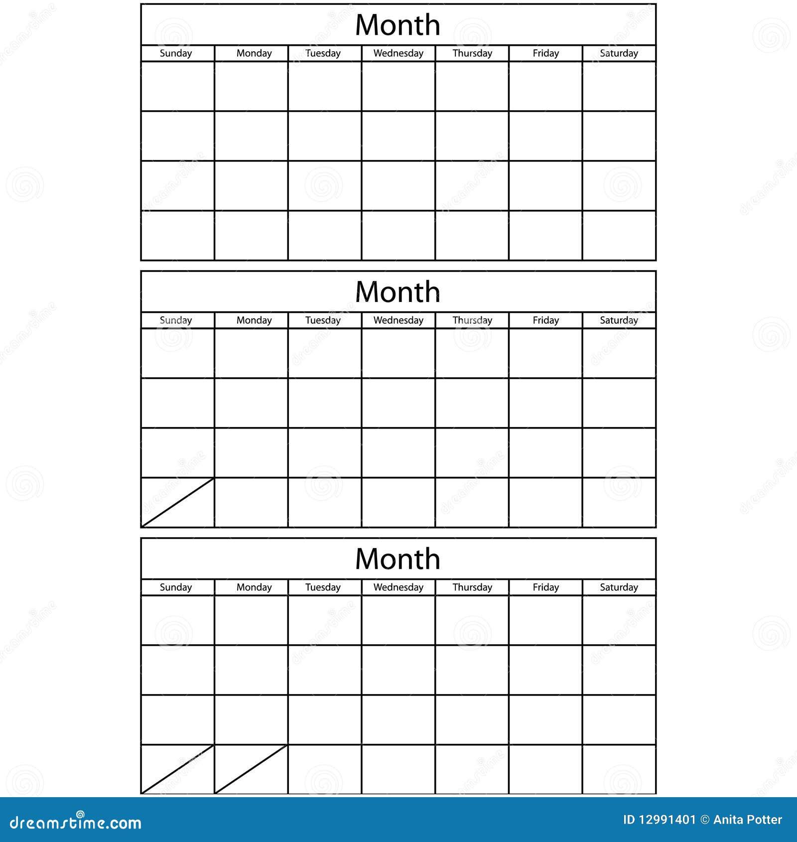 Blank mallar f r kalender 3 fotografering f r bildbyr er for 2 month calendar template 2014