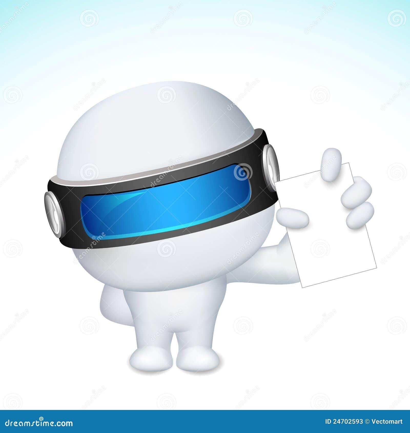 Blank man för kort för affär som 3d visar vektorn