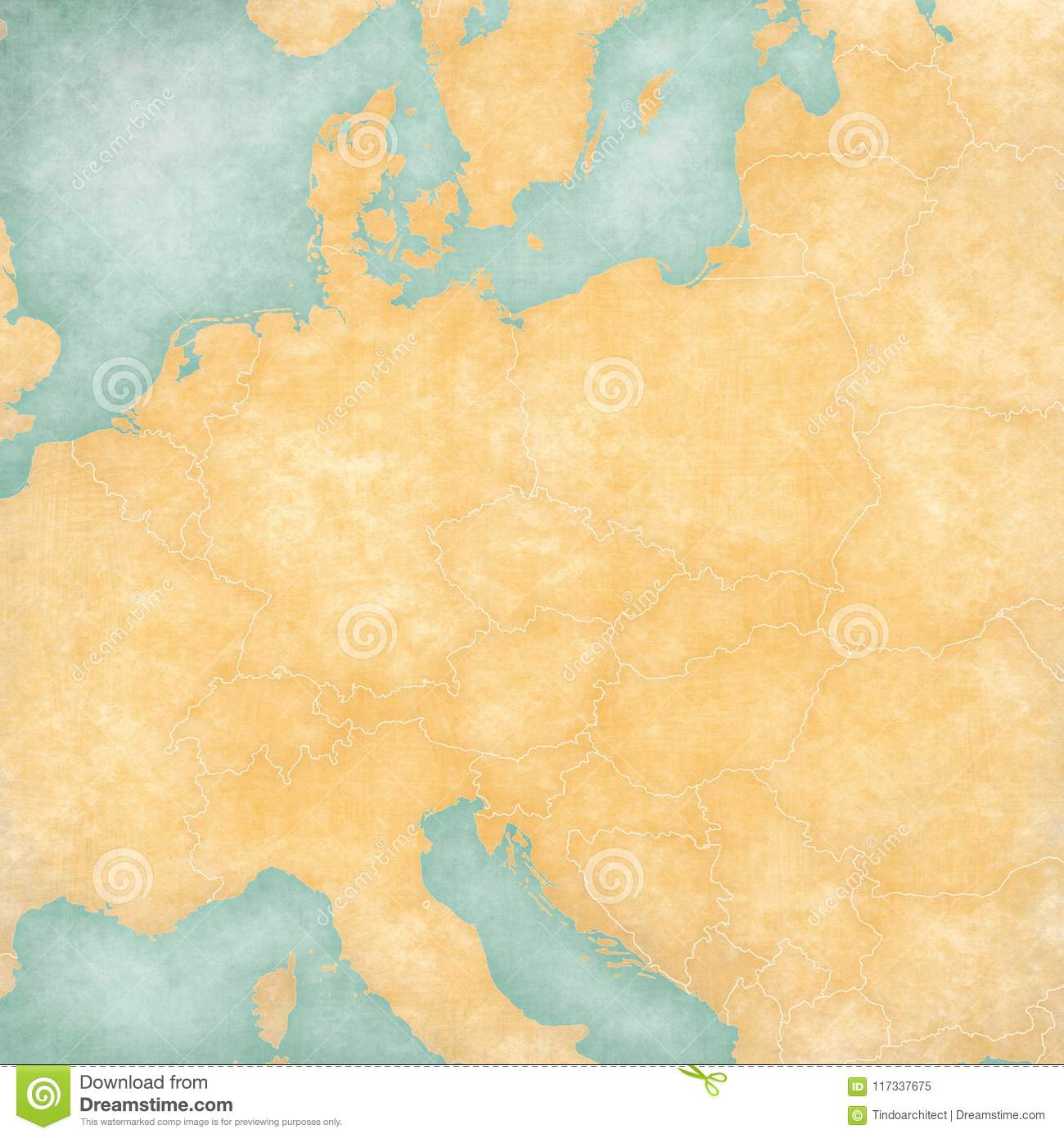 Blank Map Of Central Europe Stock Illustration Illustration Of