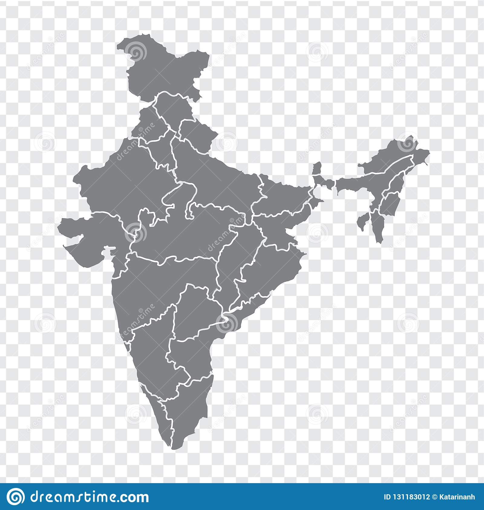 blank map india high quality map india with provinces on