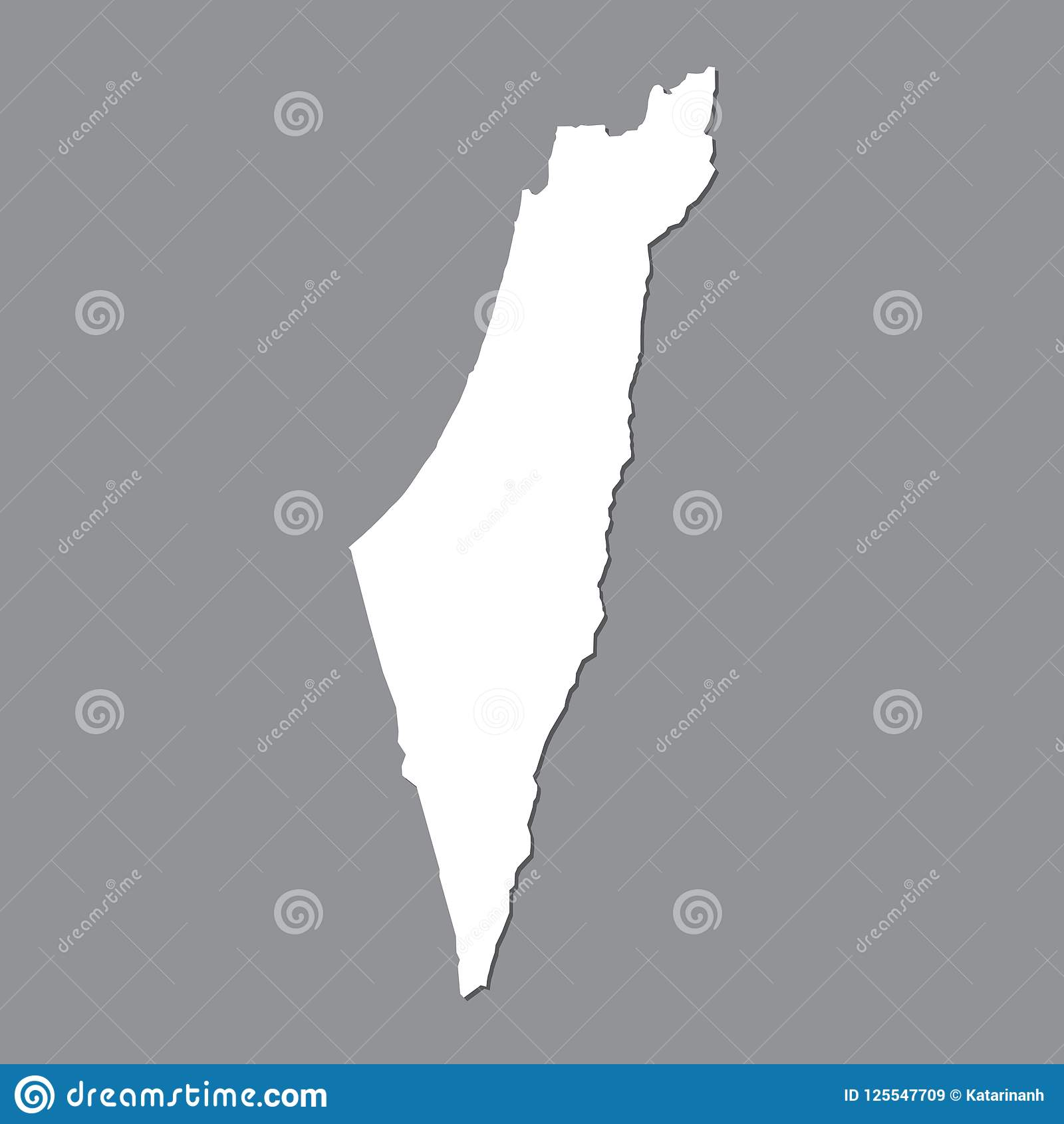 Picture of: Blank Map Israel High Quality Map Of Israel On Gray Background For Your Web Site Design Logo App Ui Stock Vector Stock Vector Illustration Of Geographic Land 125547709