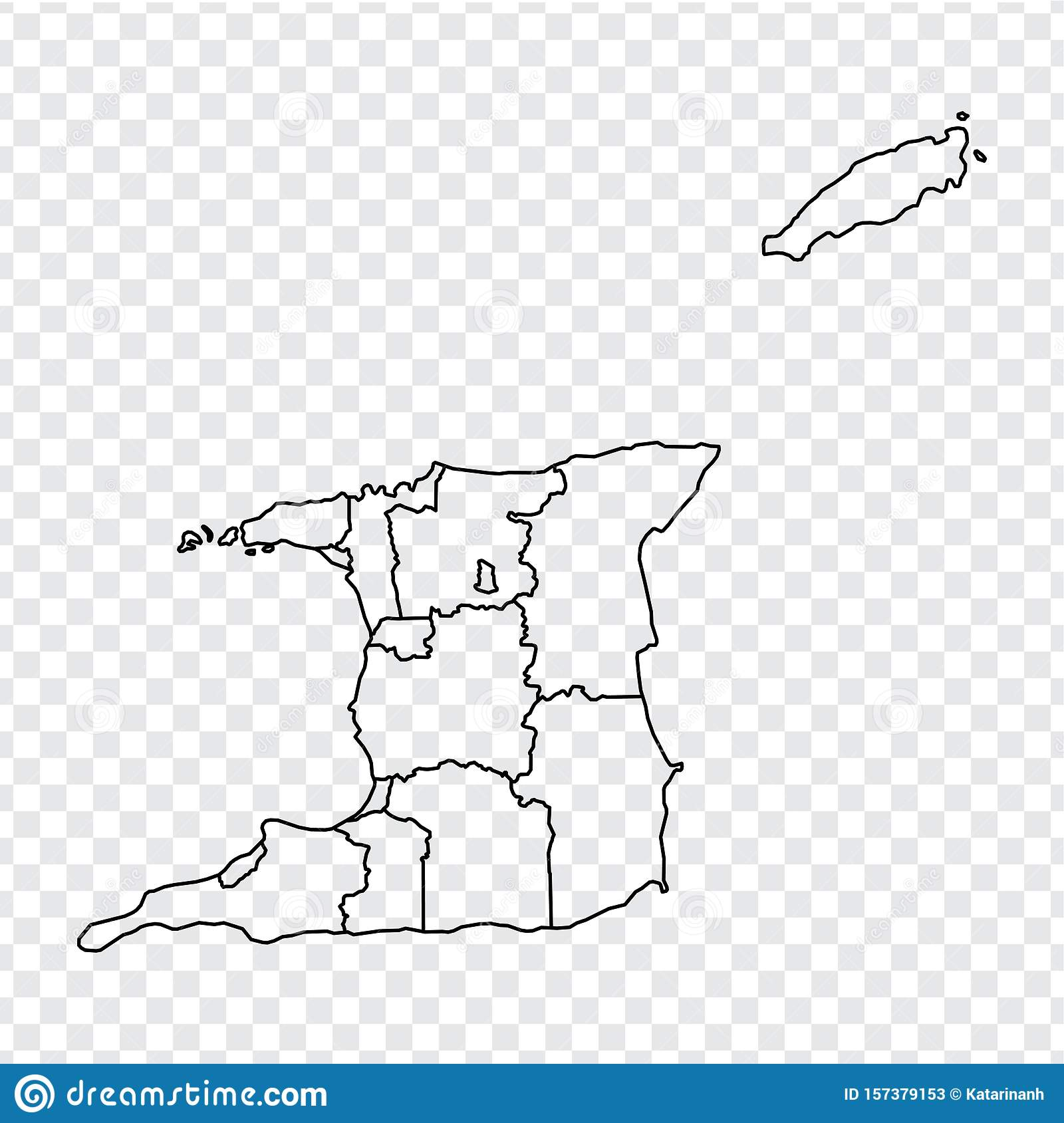Blank Map Trinidad And Tobago. High Quality Map Of Trinidad ...