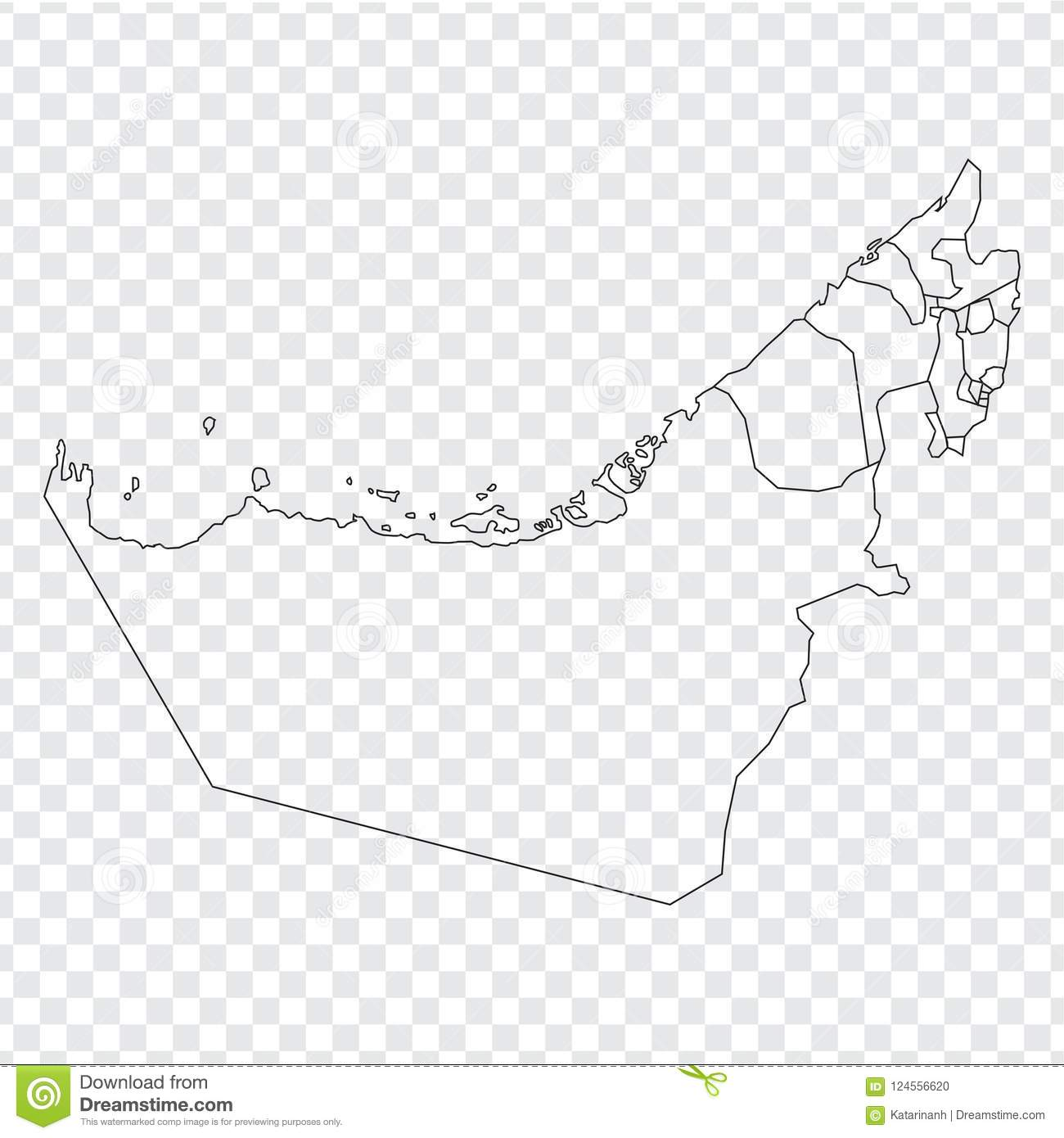 Blank Map United Arab Emirates. High Quality Map Of United ... on countries of uae, cities of uae, regions of uae, states of uae, geographical features of uae, national flag of uae, peninsulas of uae,