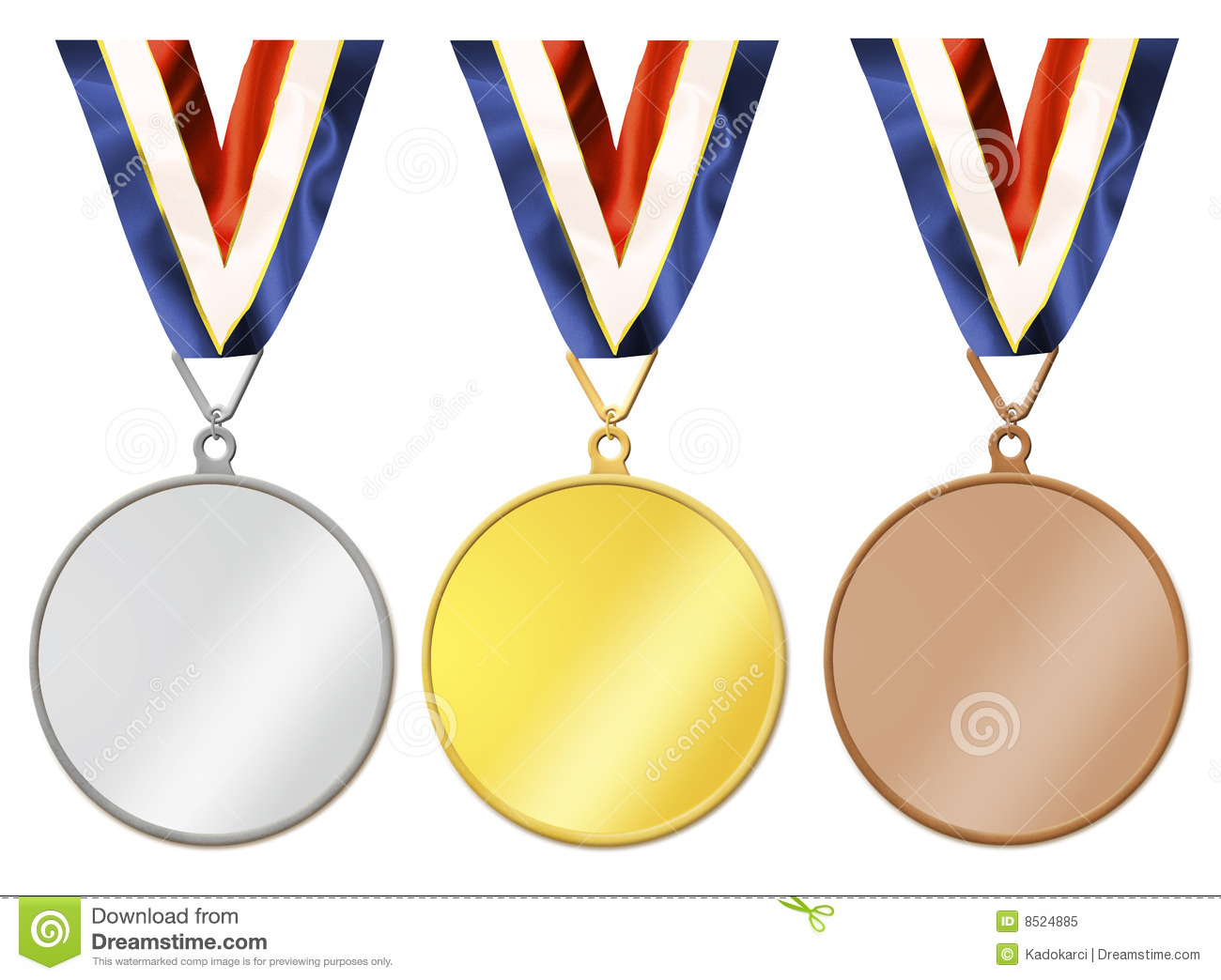 Blank Medals Royalty Free Stock Photo - Image: 8524885