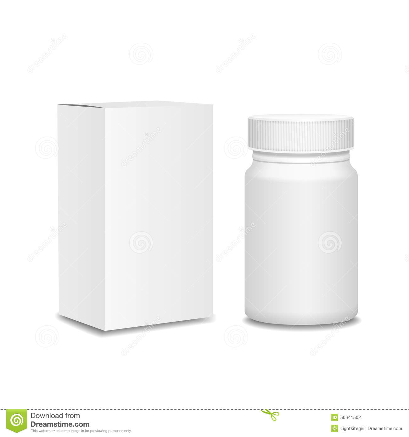 Blank Medicine Bottle And Package Isolated On Stock Vector ...