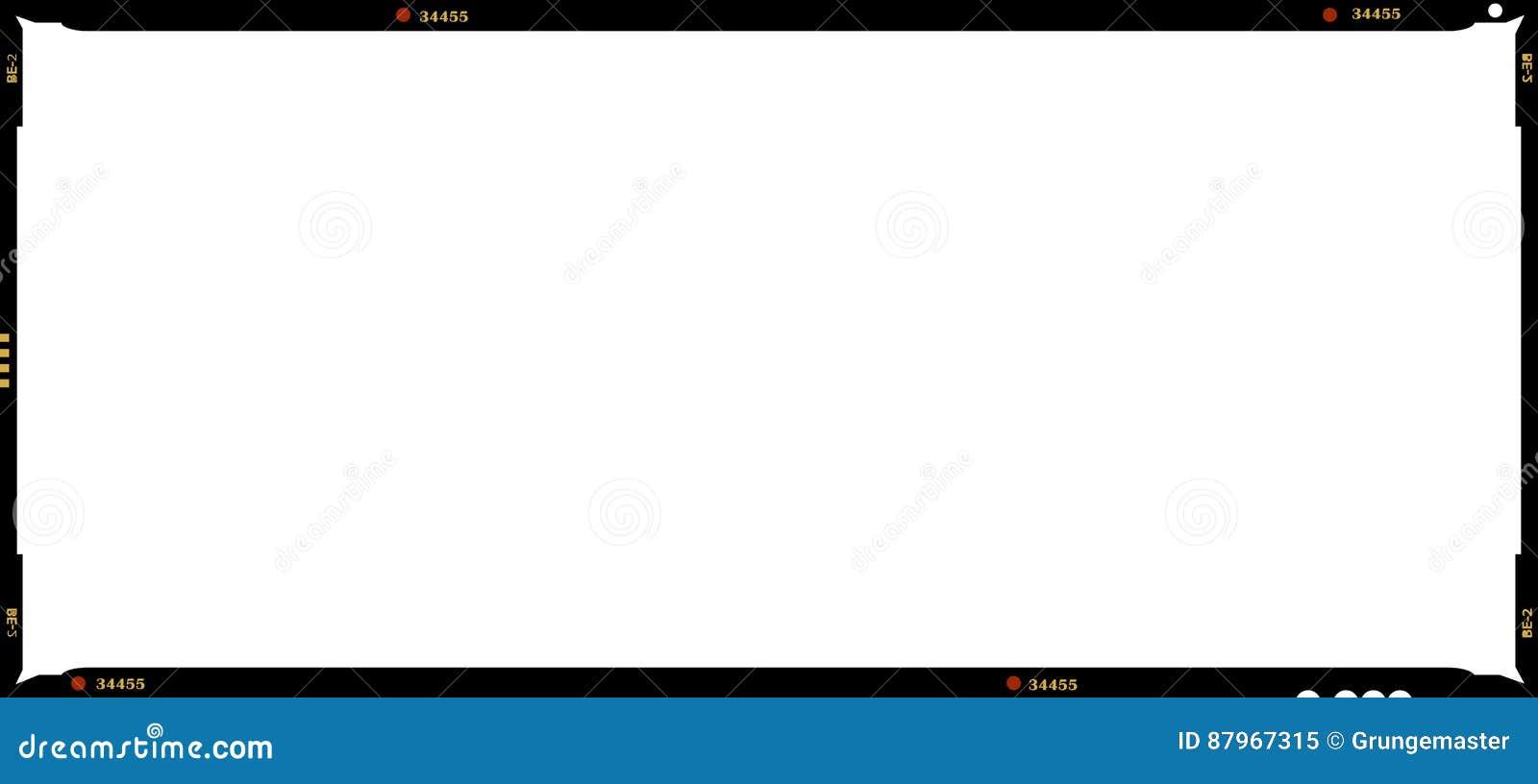 Blank Medium Format Film Frame Stock Illustration - Illustration of ...