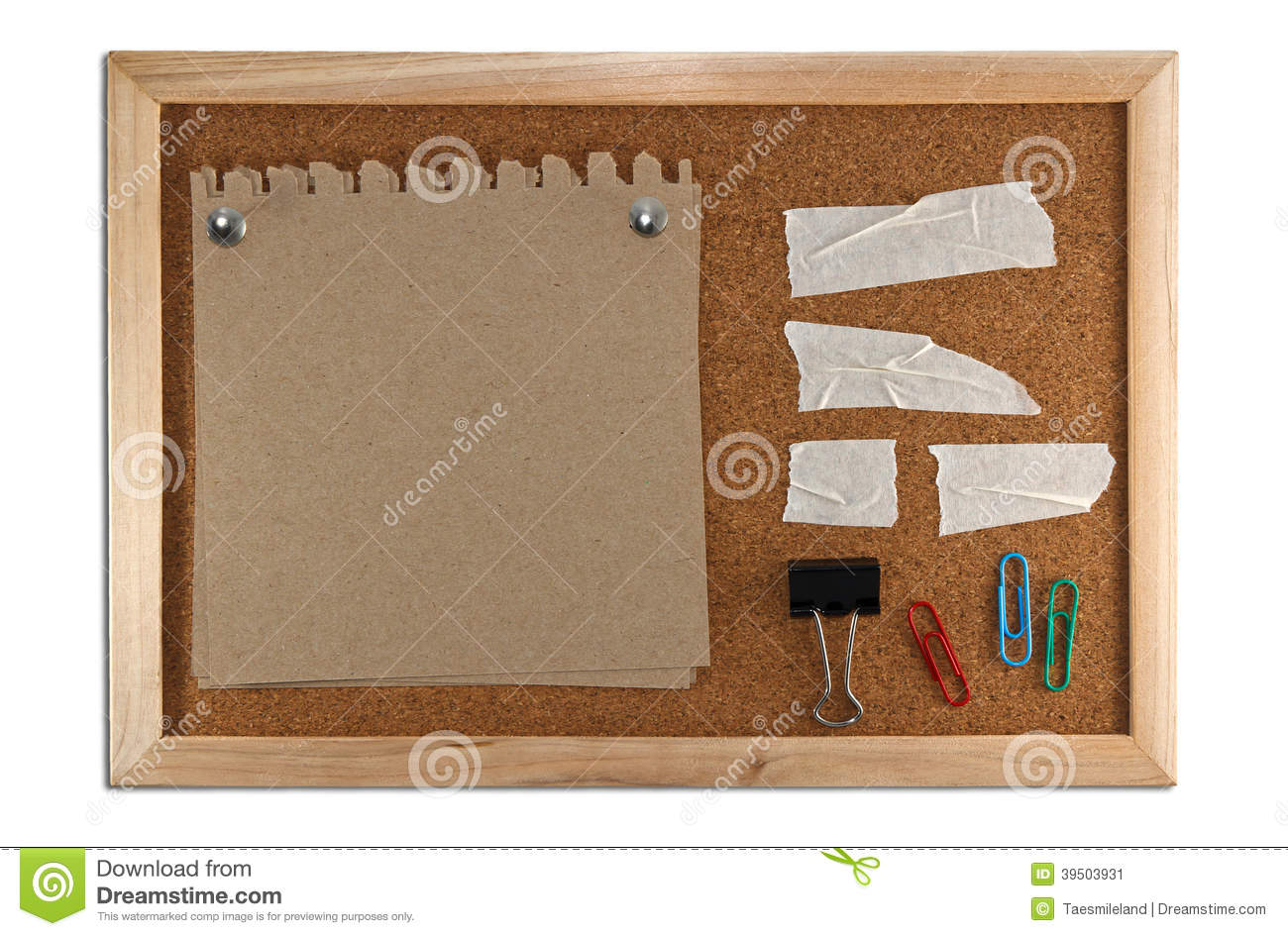 Download Blank Memo Notes On Cork Board Stock Image - Image of notebook, blank: 39503931