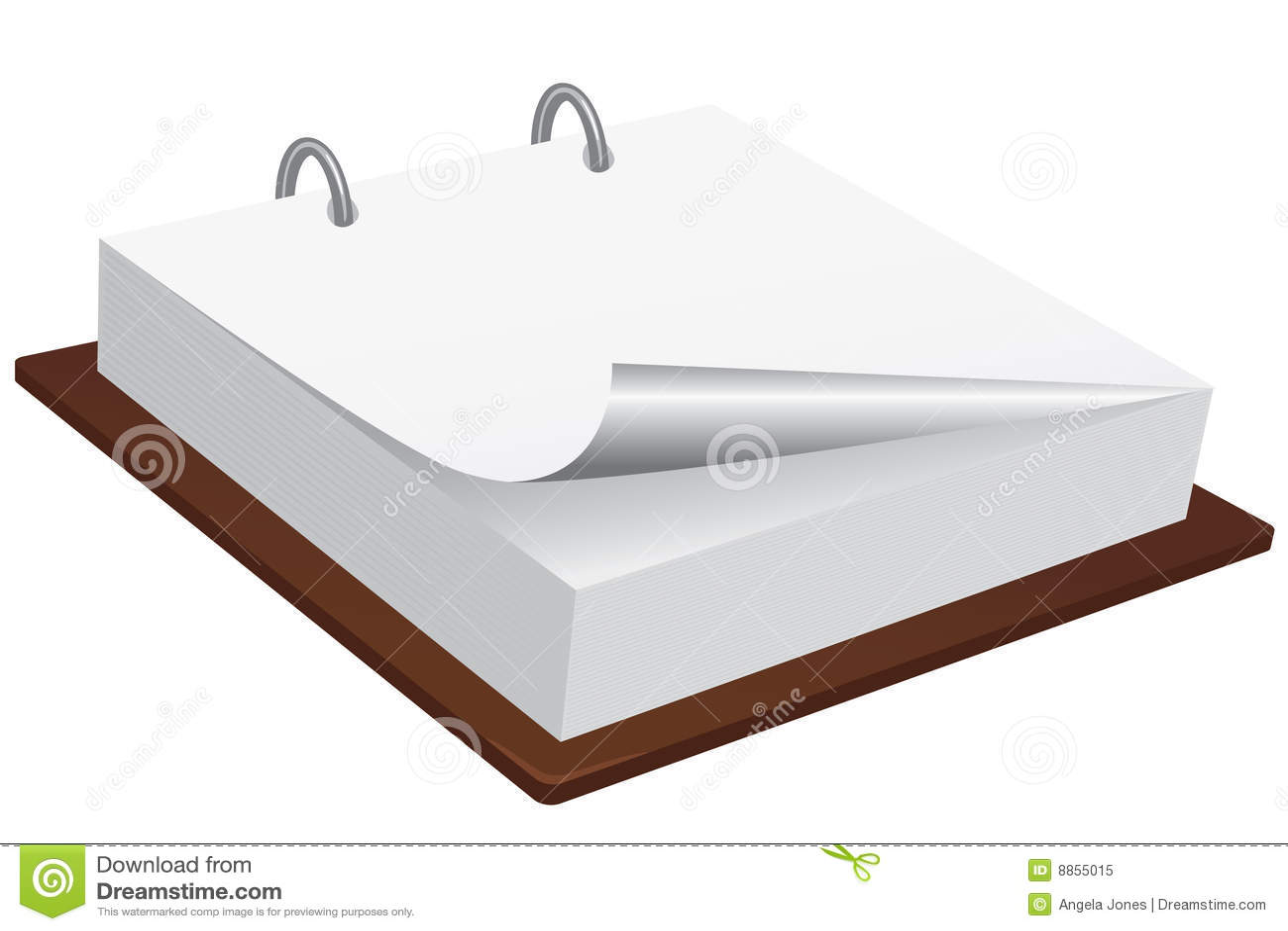 Blank Memo Pad Royalty Free Stock Photo Image 8855015