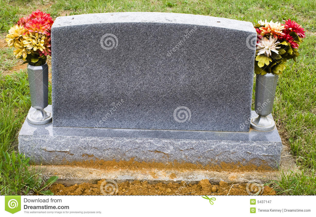 Blank Memorial Stone Stock Image Image Of Vase Burial 5437147