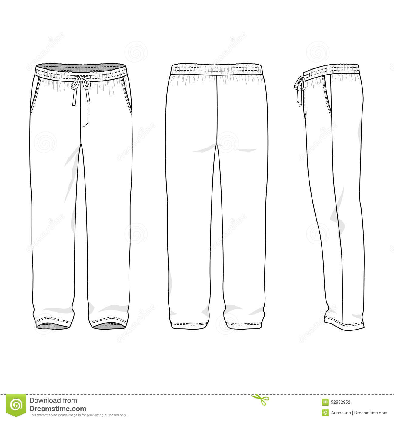 blank men s sweatpants stock vector illustration of garment 52832952 basketball jersey clip art free basketball jersey design clipart