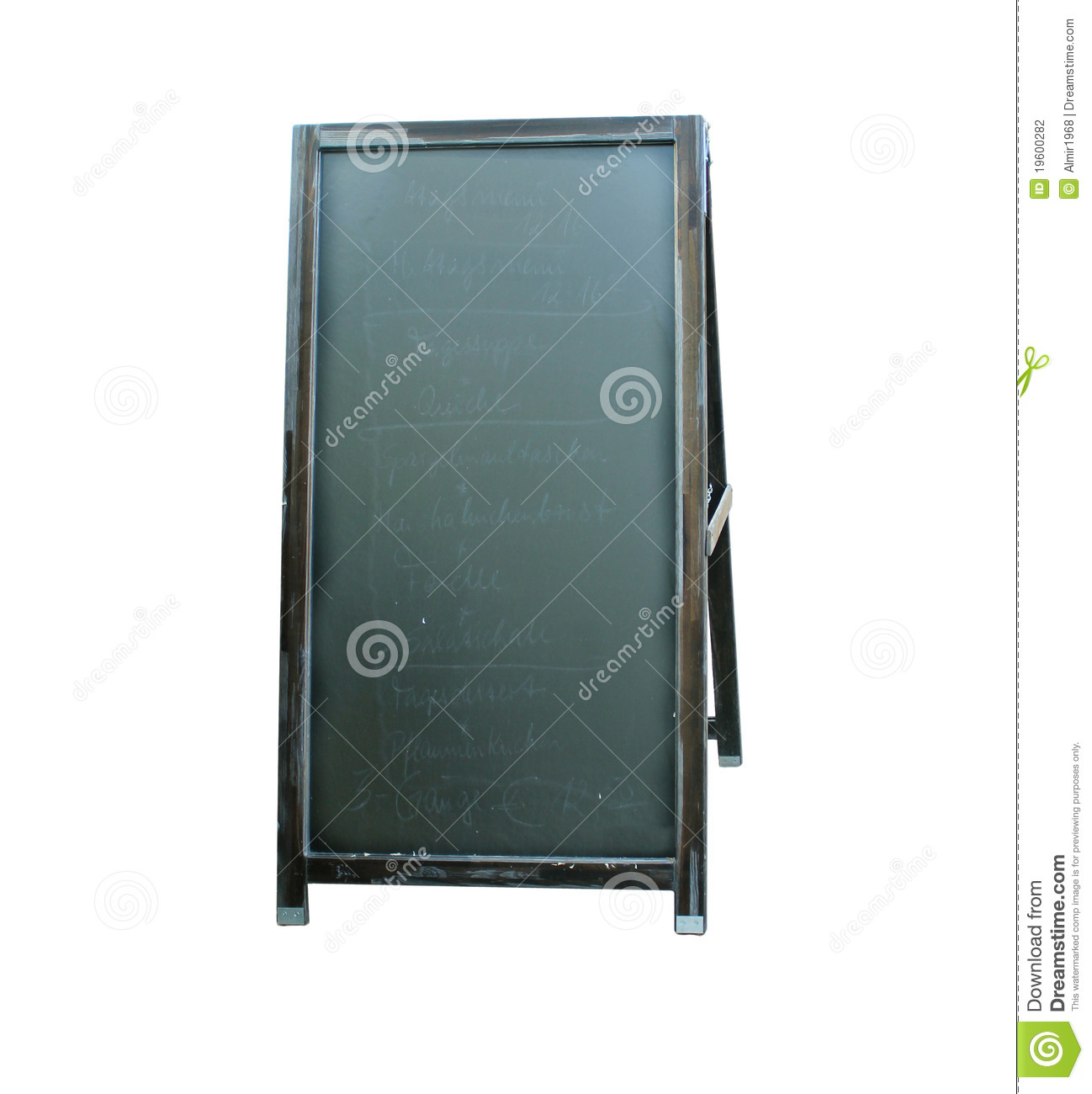 Blank Menu Board Stock Photography - Image: 19600282
