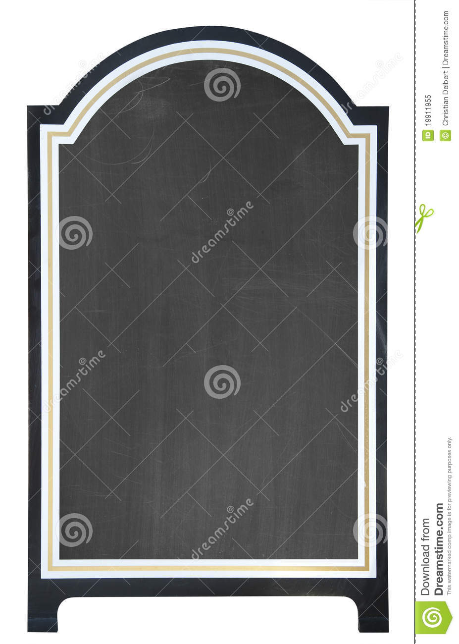 Blank Menu Board , Isolated Stock Image - Image: 19911955