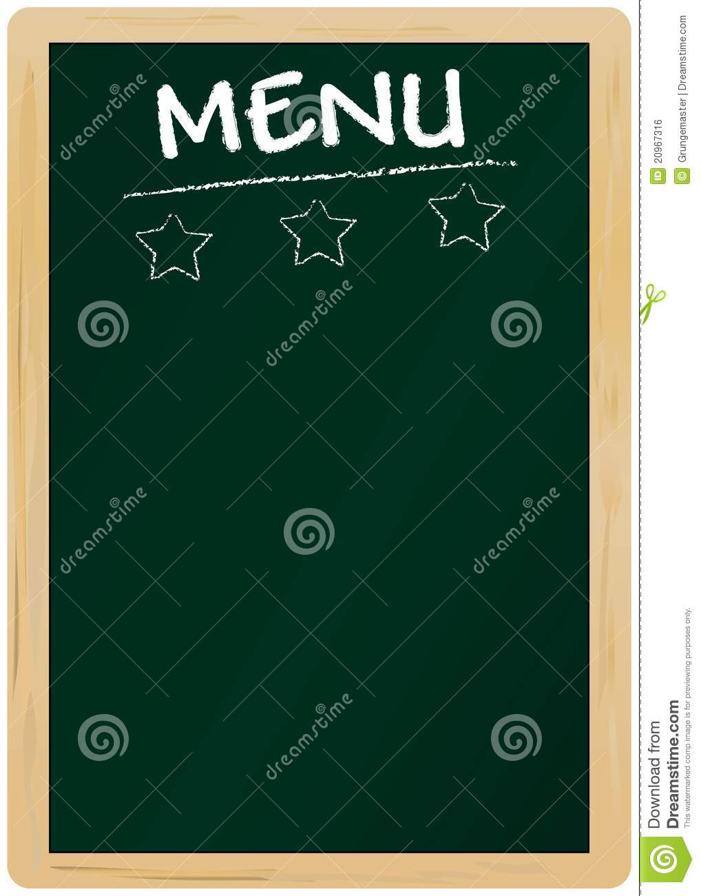 Blank menu card stock vector. Illustration of price ...