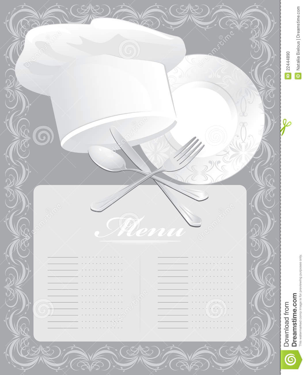 Blank For Menu Card Stock Photo - Image: 22444890