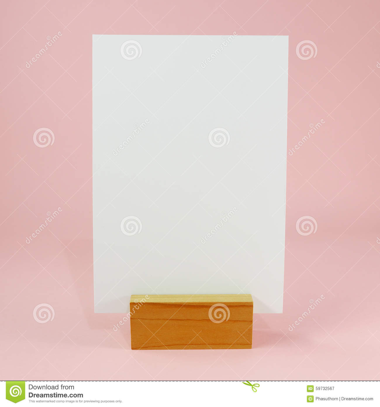 Blank Menu Card With Wooden Standing Dock (#1) Stock Image ...