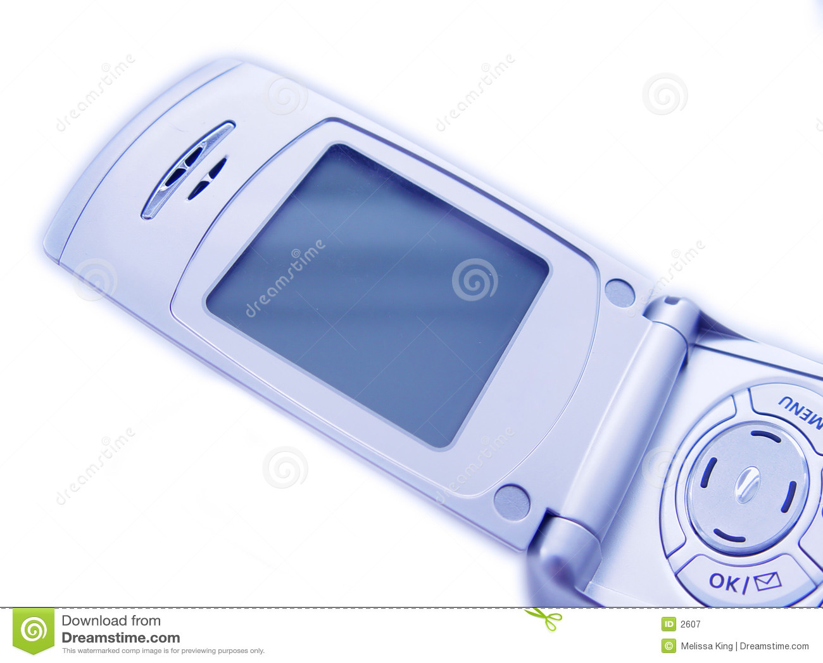 Blank mobiltelefonskärm