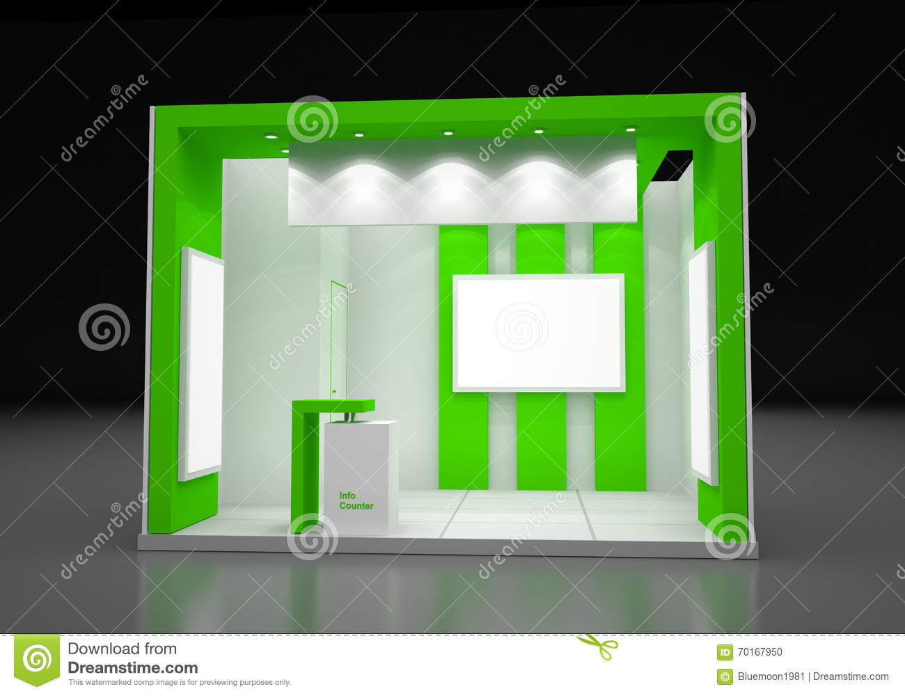 Modern Exhibition Booth : Blank modern booth exhibition design concept stock
