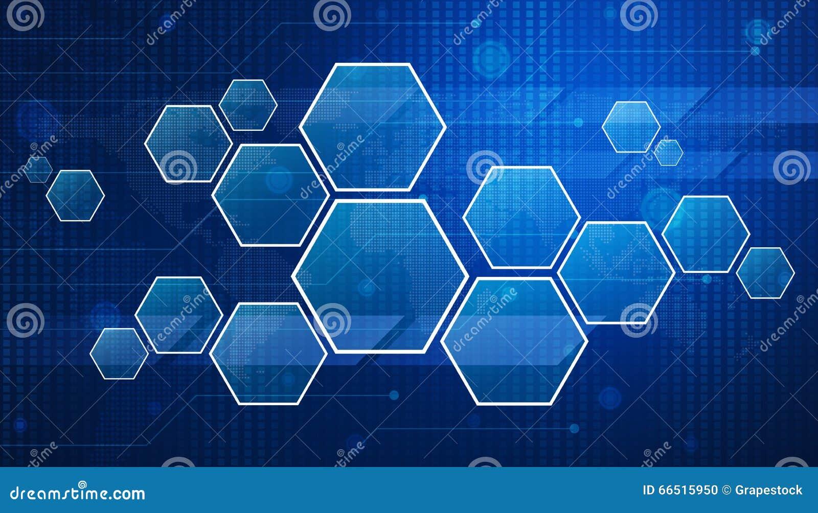 Blank Modern Virtual Technology Screen On Digital Map, Elements Stock Photo
