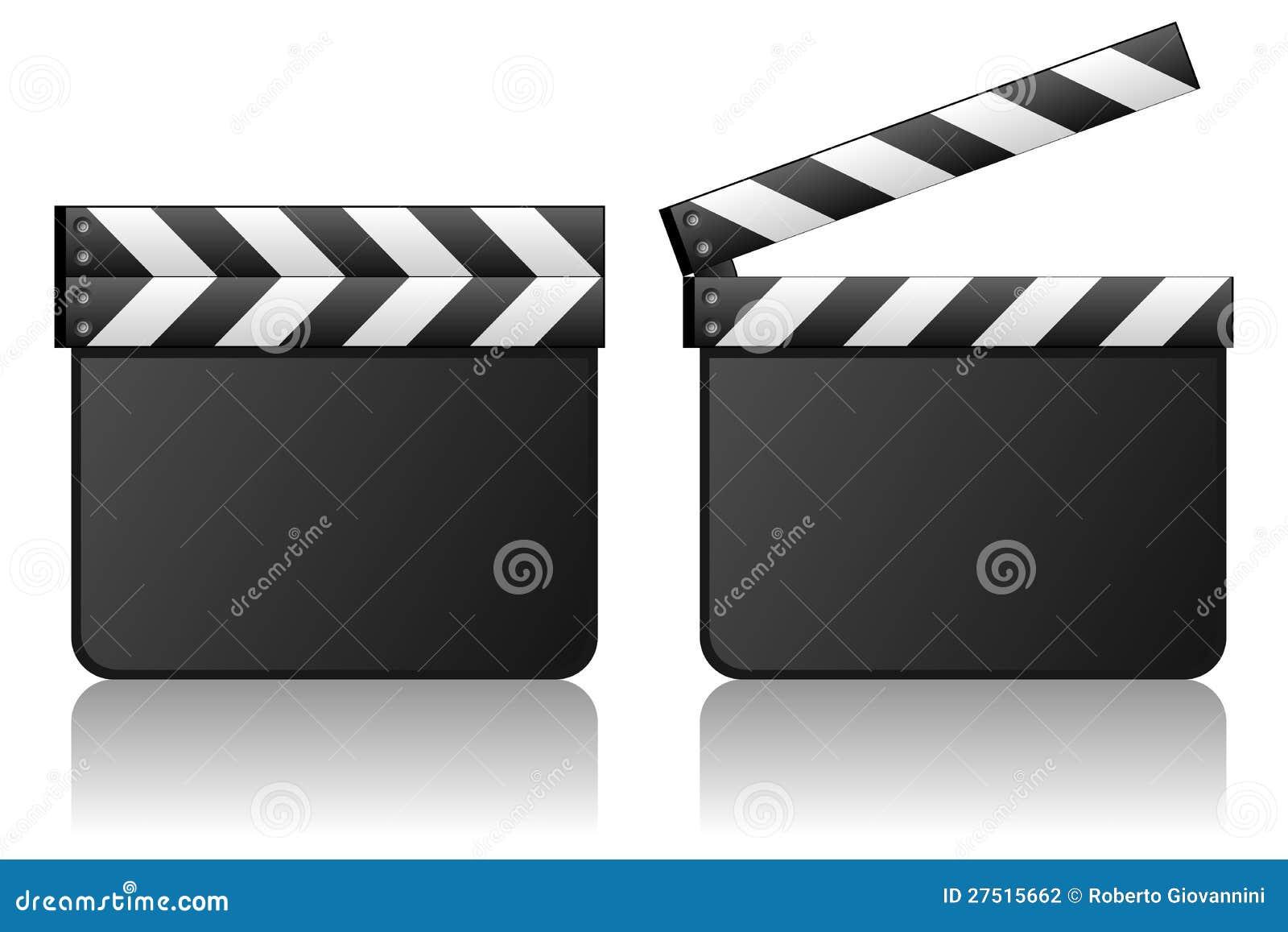Blank Movie Clapboard Film Slate