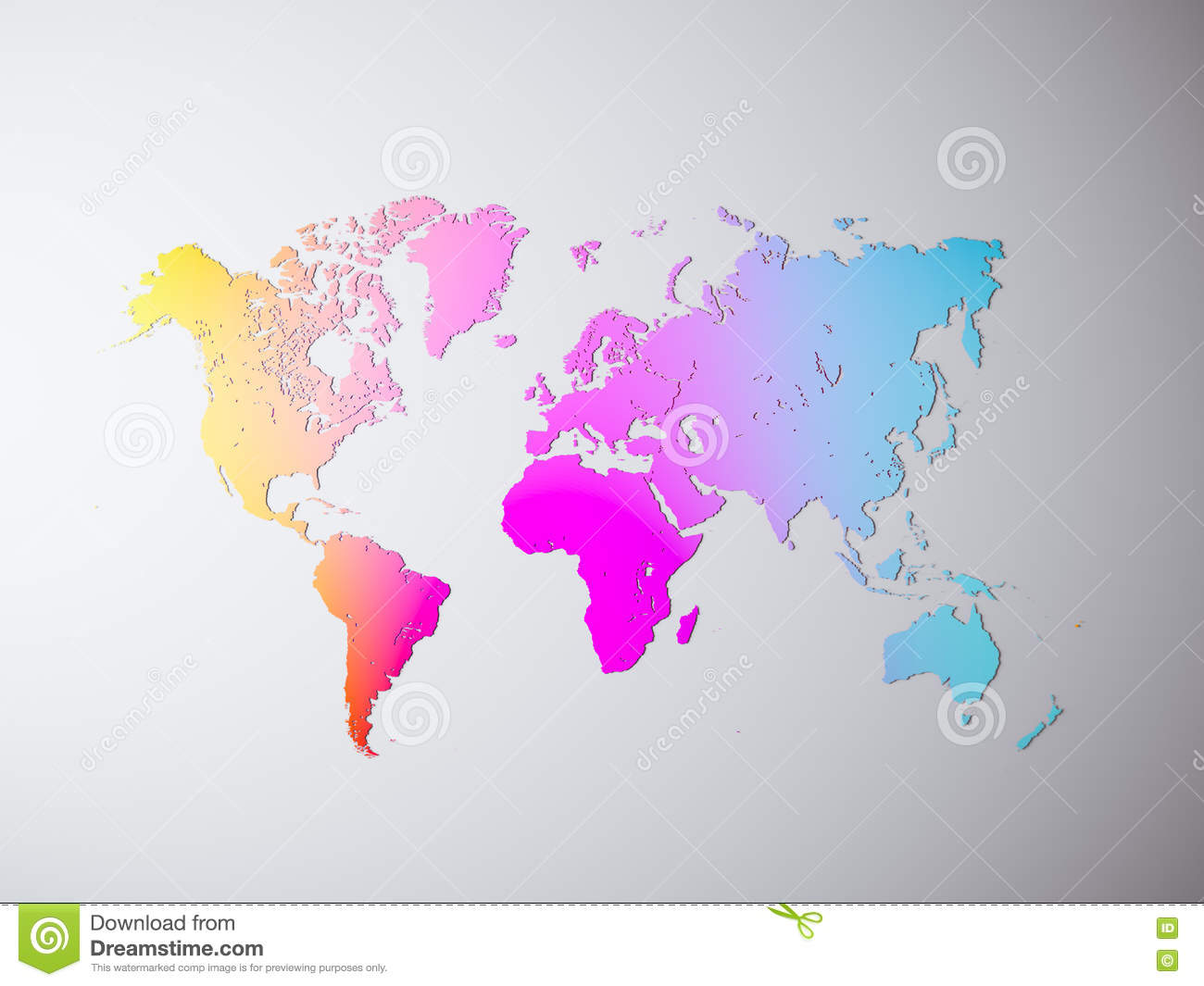 Blank multicolor texture political world map 3d rendering empty download blank multicolor texture political world map 3d rendering empty concrete wall background gumiabroncs Image collections
