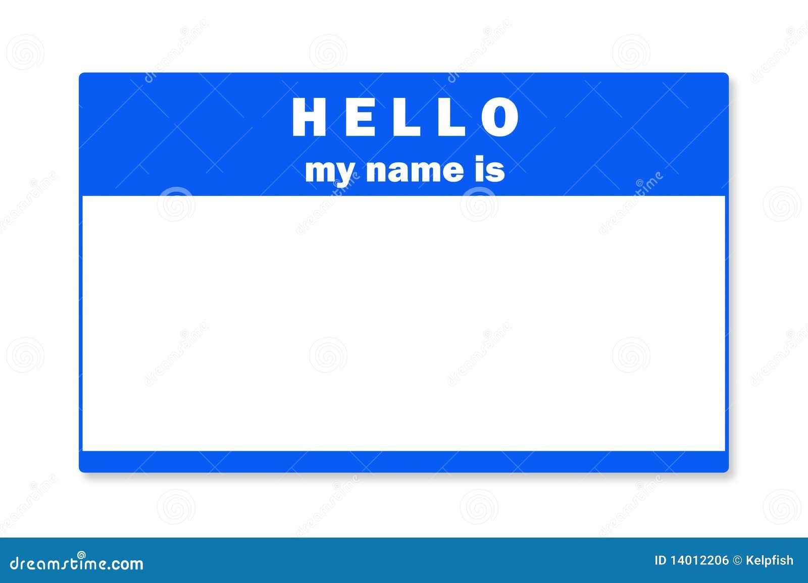 Blank Name Tag Stock Photo Image Of Badge