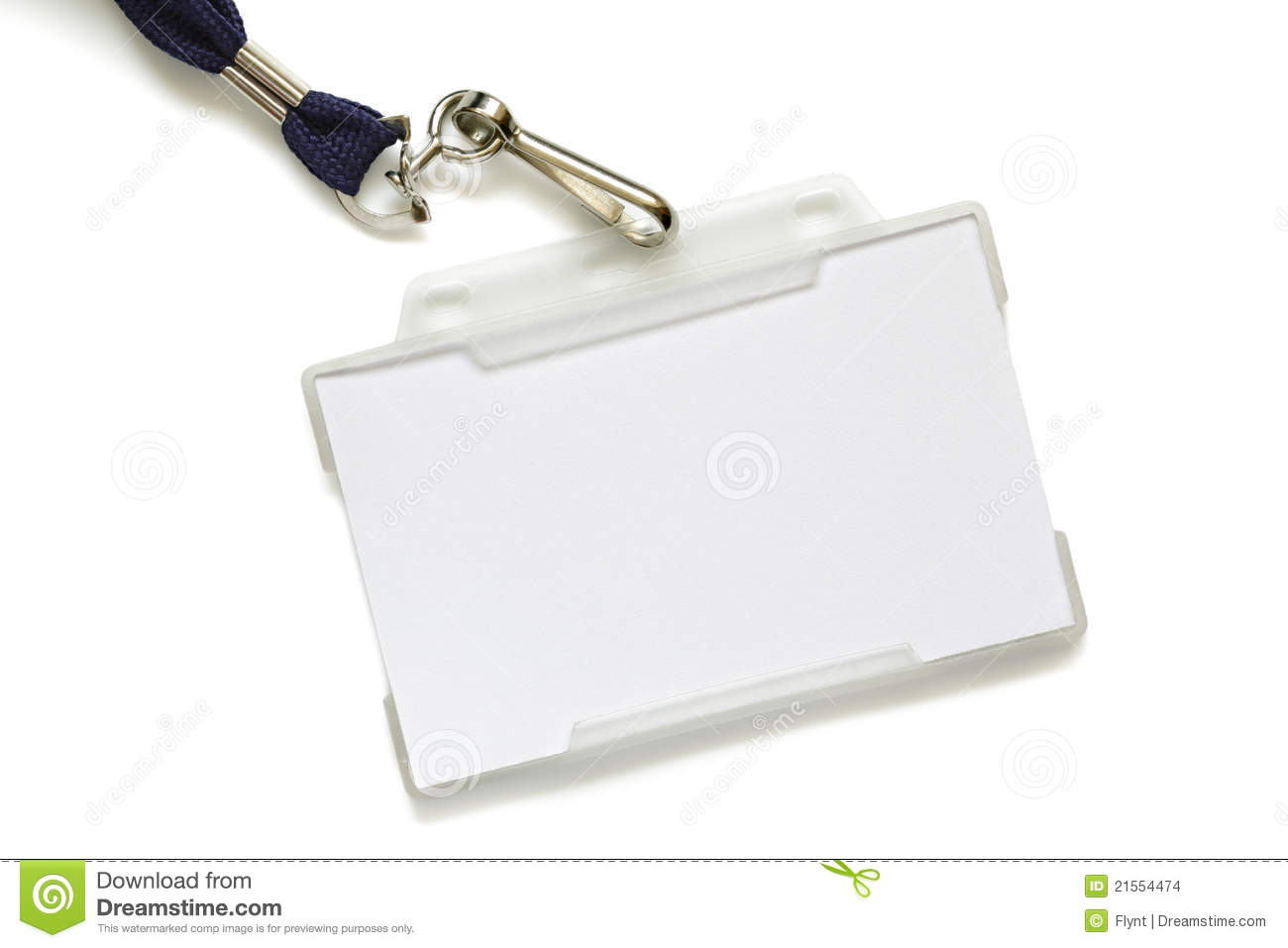 Blank Name Tag On Lanyard Stock Images Image 21554474