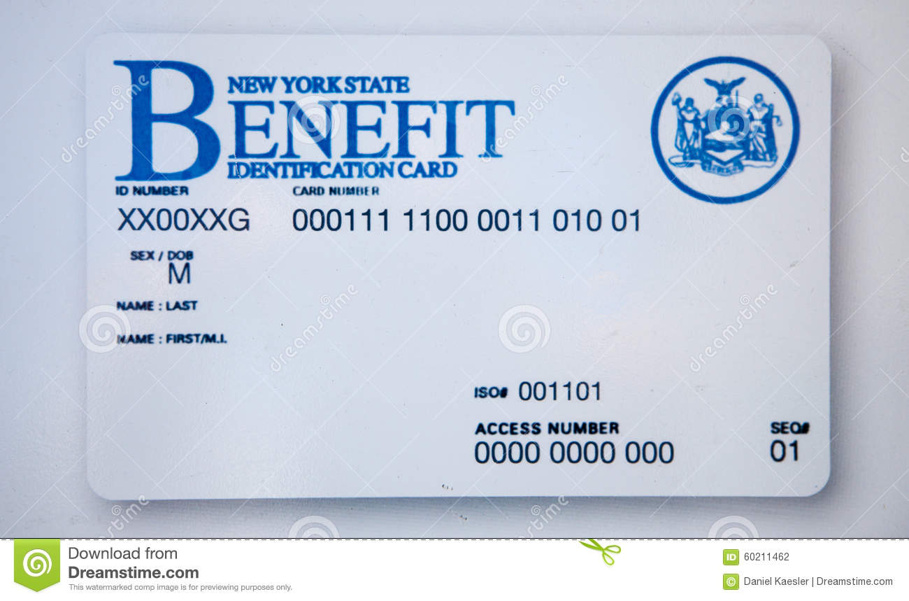 Blank New York State Benefit Id Card Identification