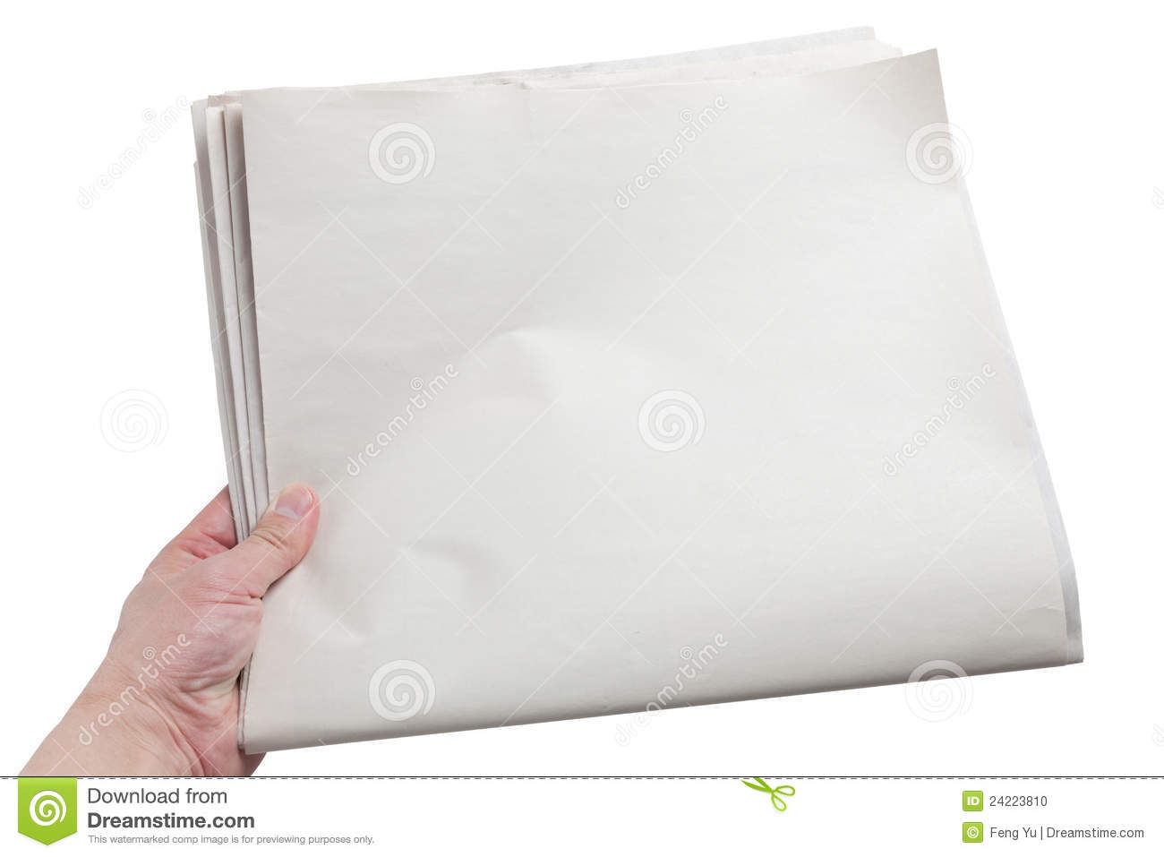 blank newspaper stock photo. image of holding, white - 24223810