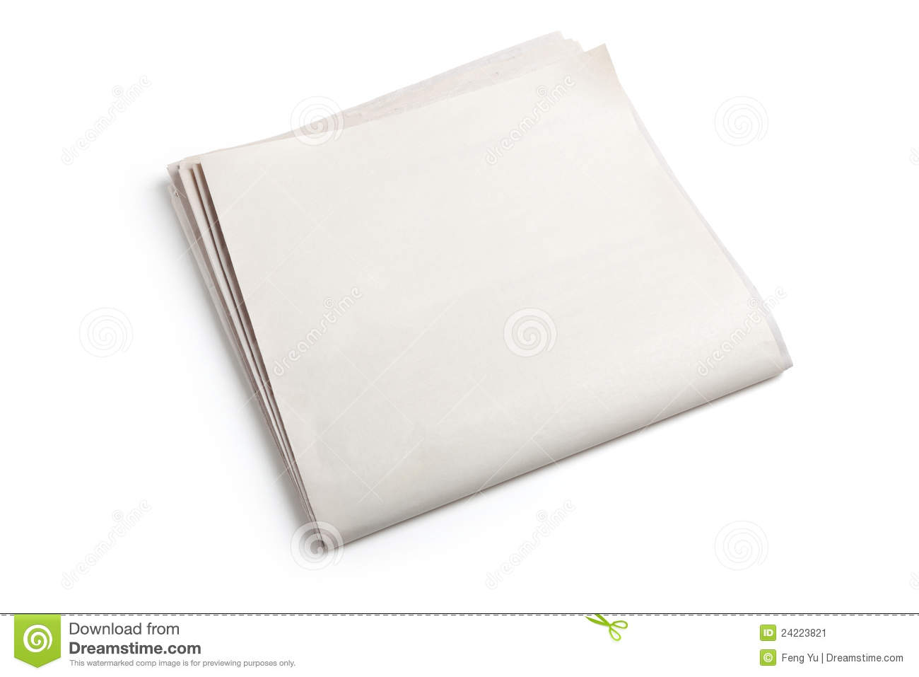 Blank Newspaper Stock Image Image 24223821