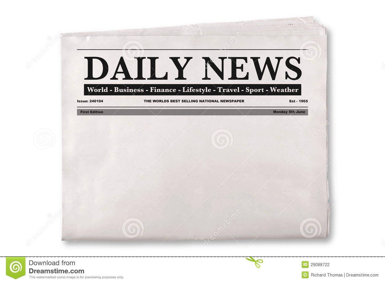 blank newspaper template best business template up of a blank daily newspaper empty space to add your own news oltobxwn