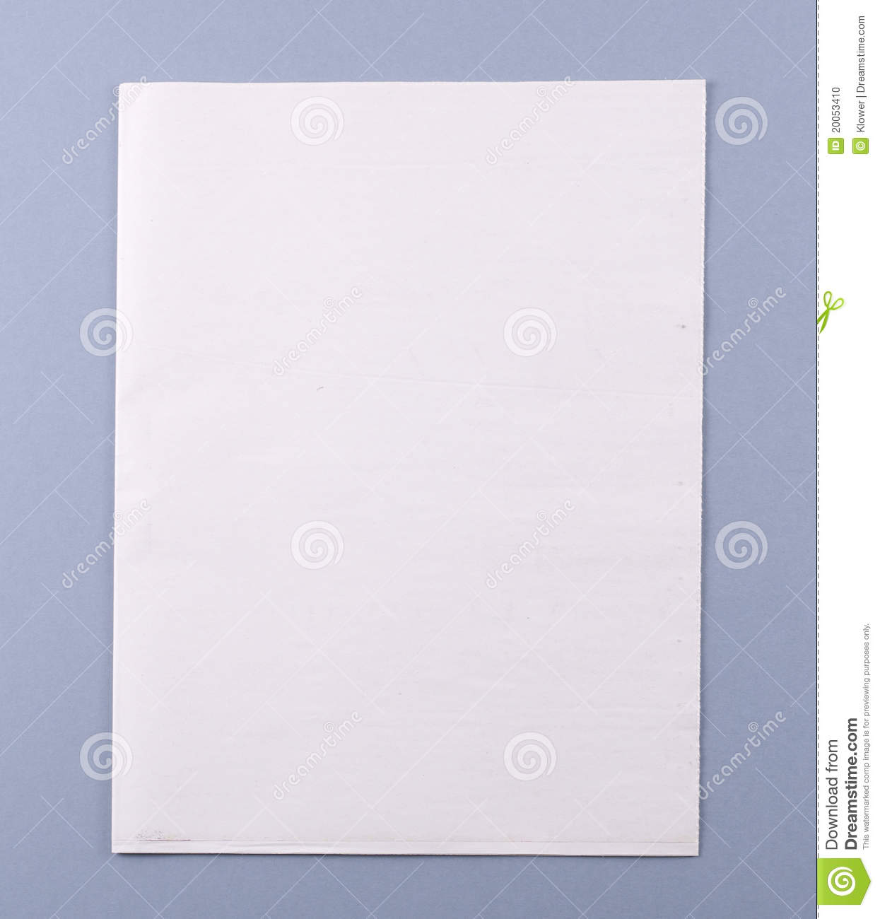 blank newspaper cover with clipping path stock photo