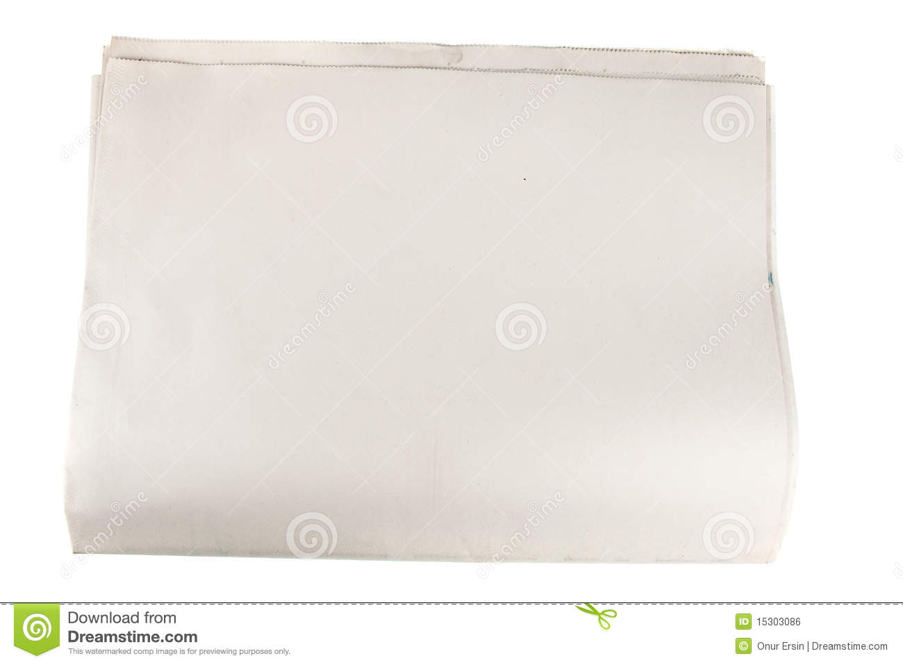 Blank Newspaper Paper On Isolated White Royalty Free Stock Image ...
