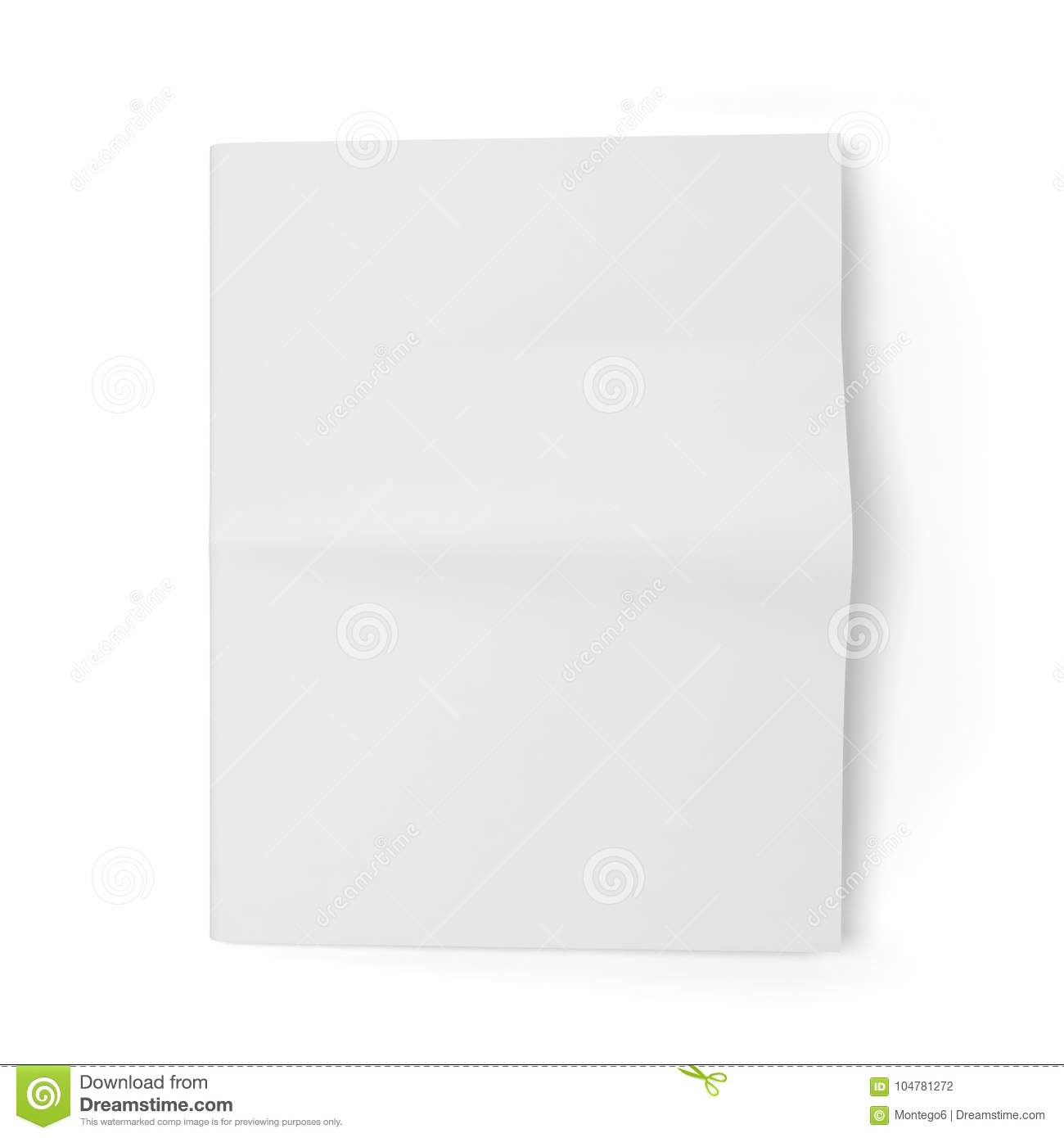 Blank Newspaper Template Stock Illustration Illustration Of Page