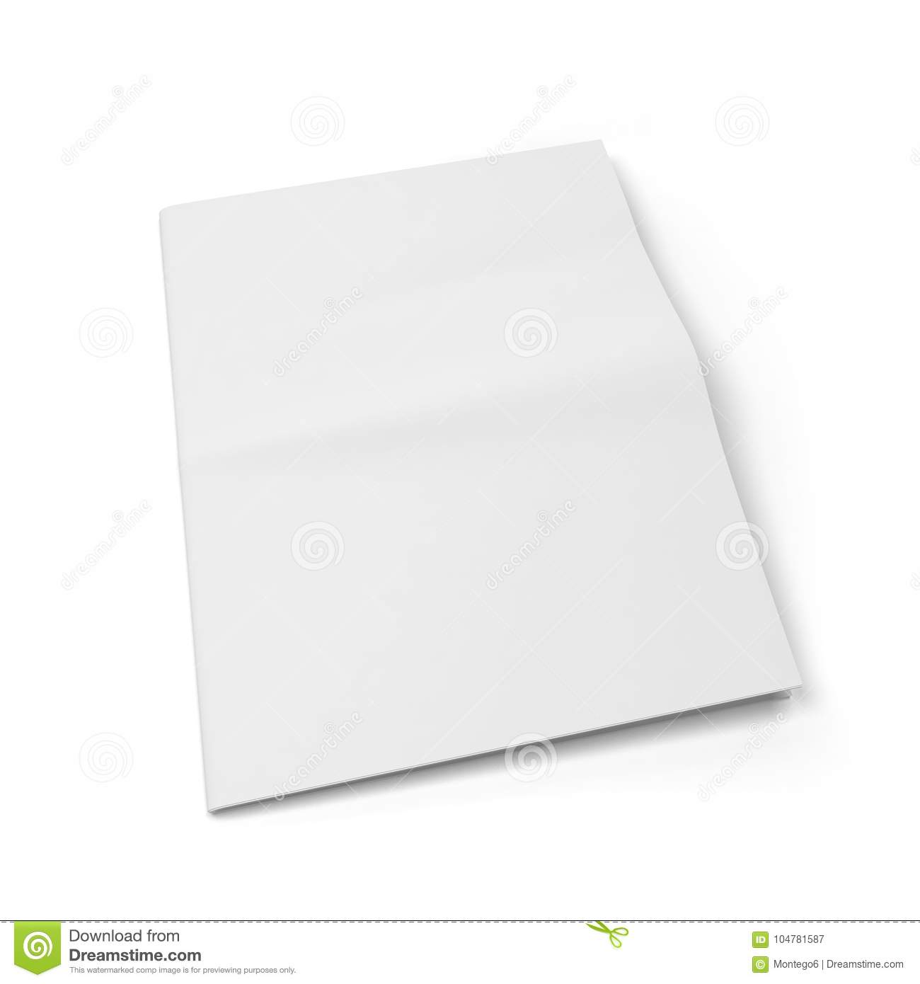 blank newspaper template stock illustration illustration of blank
