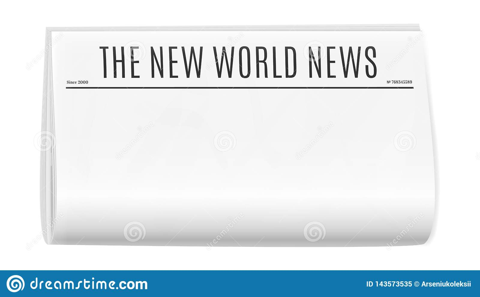 Blank Newspaper Template Stock Vector Illustration Of Breaking