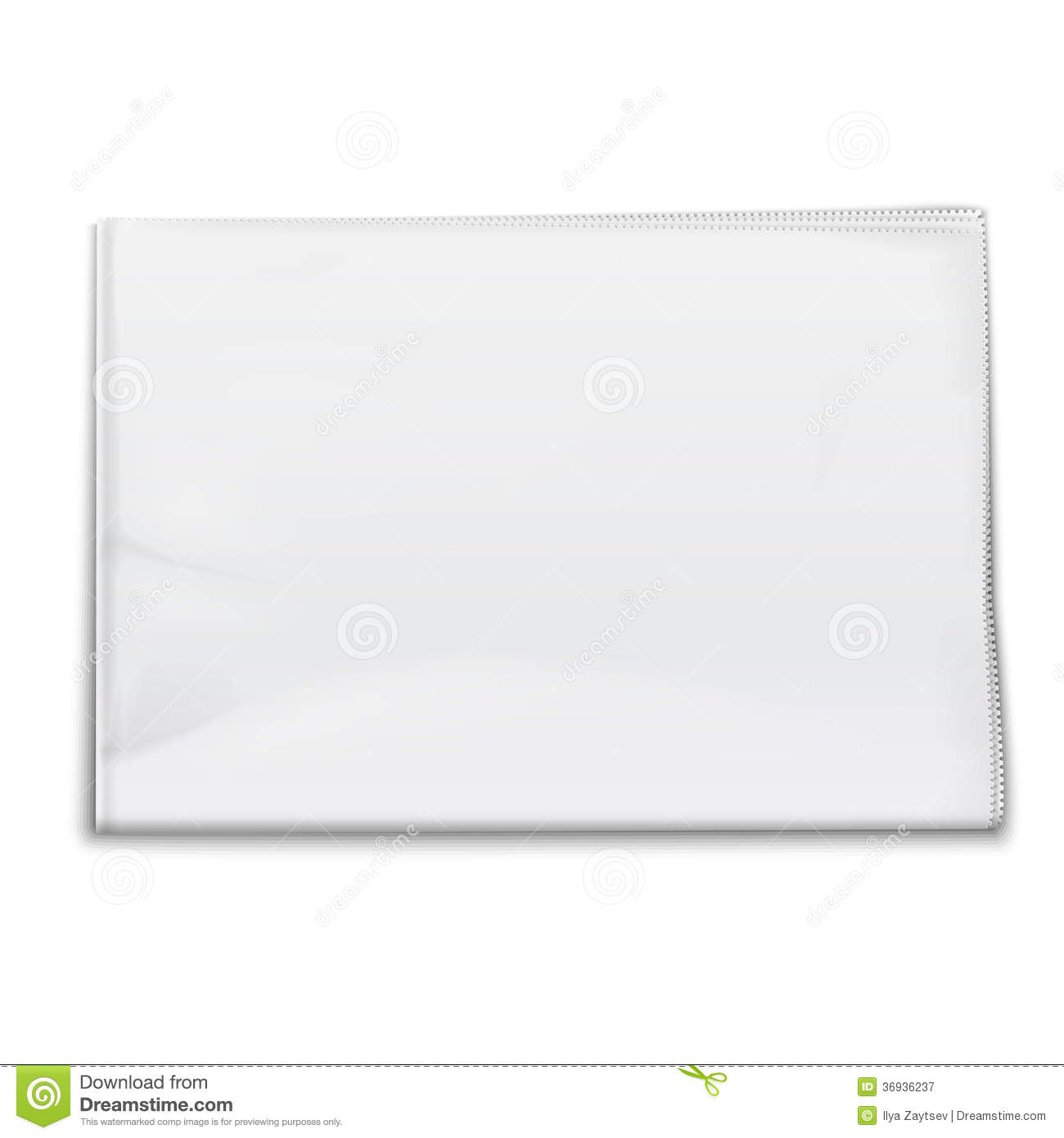blank newspaper template on white background  stock vector