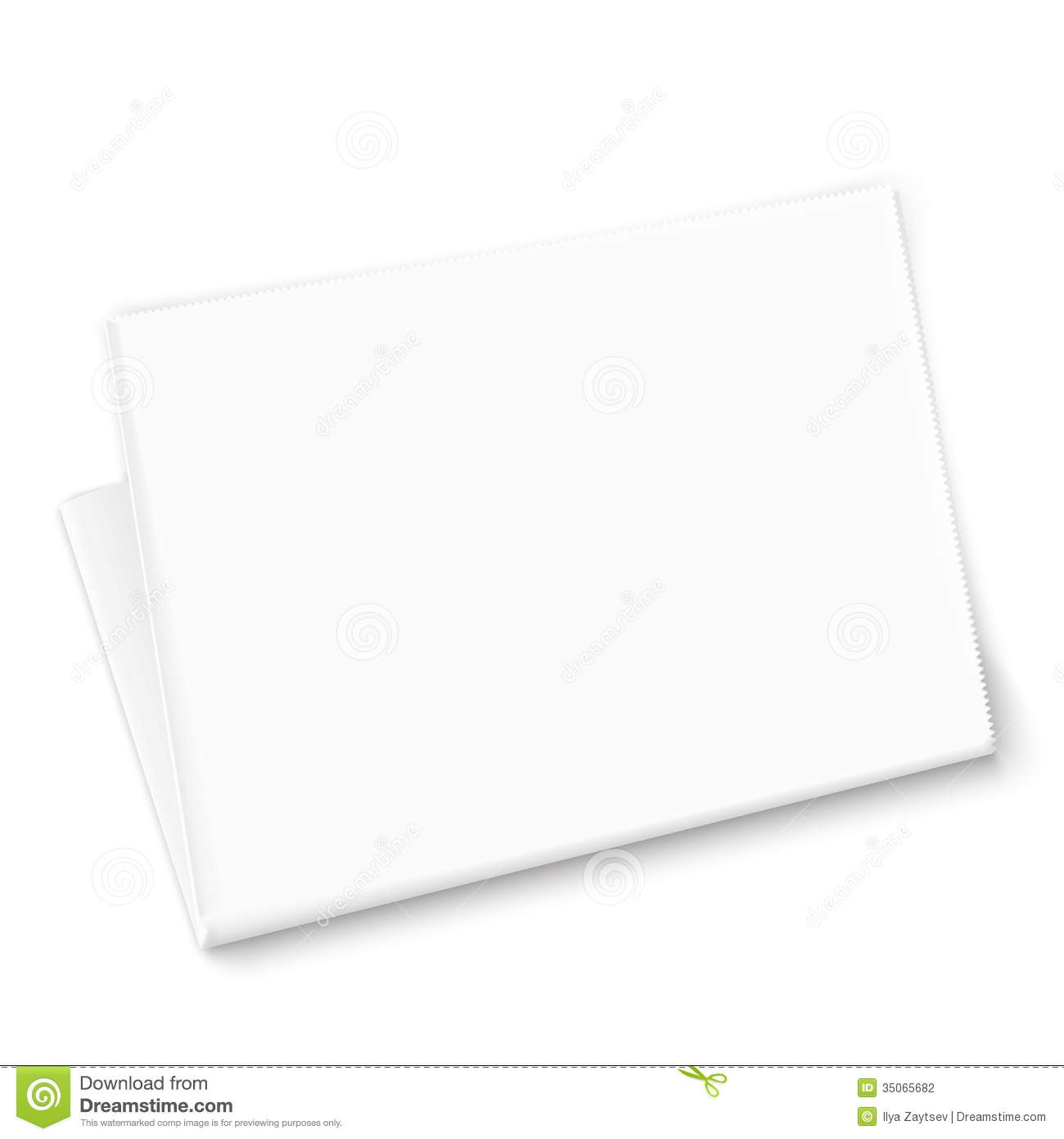 Blank white newspaper template on white background. Vector ...