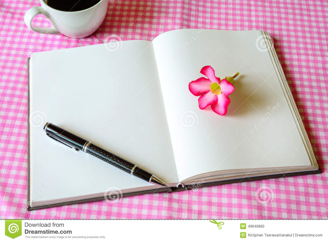 Blank Note Book With Coffee Stock Photo - Image: 49646860