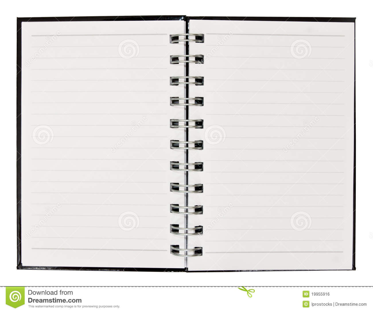 Blank Note Book With Ring Binder Royalty Free Stock Image