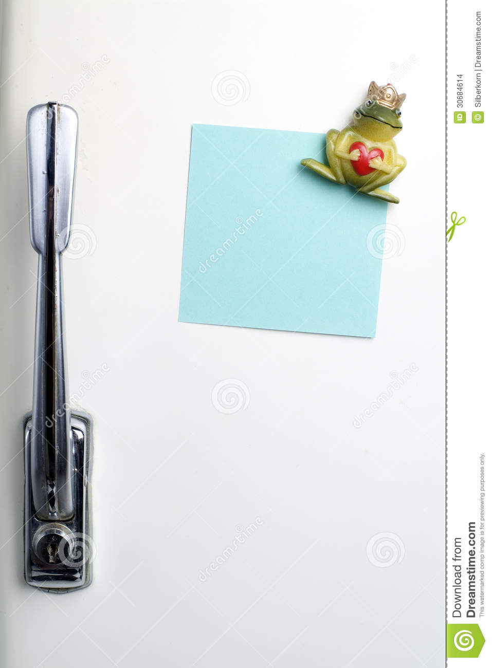 Blank Note On Fifties Fridge-door, Close-up Of Frog With ...