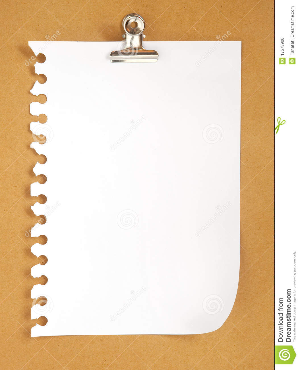 Blank Note Paper On Cardboard Background Royalty Free