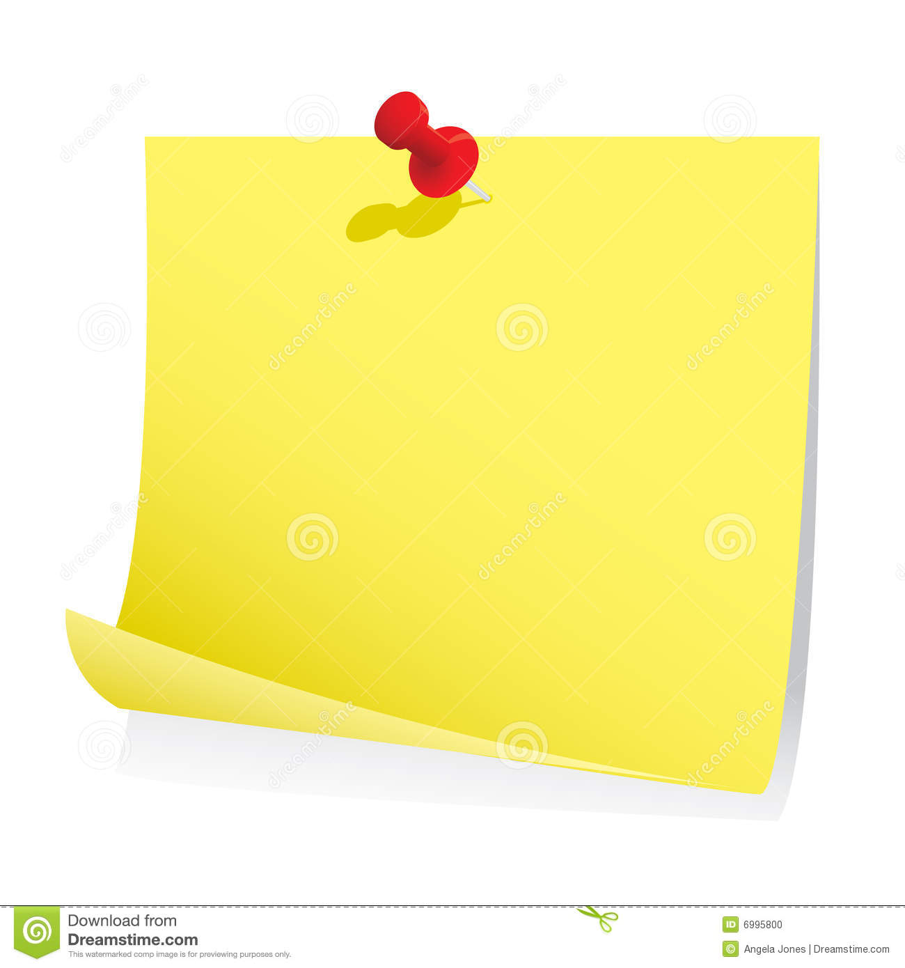 Stock Photo Blank Note Paper Pin Image6995800