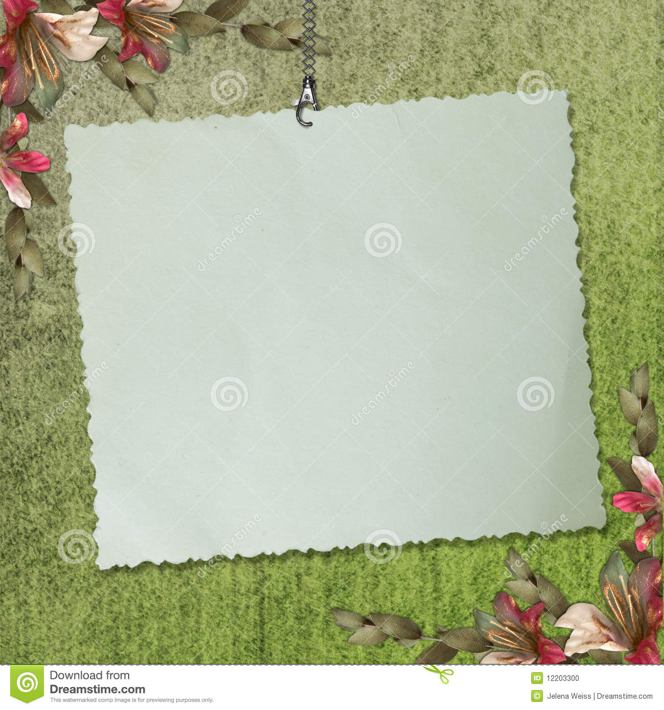 Scrapbook paper note - Blank Note Paper On Textured Background Stock Photo