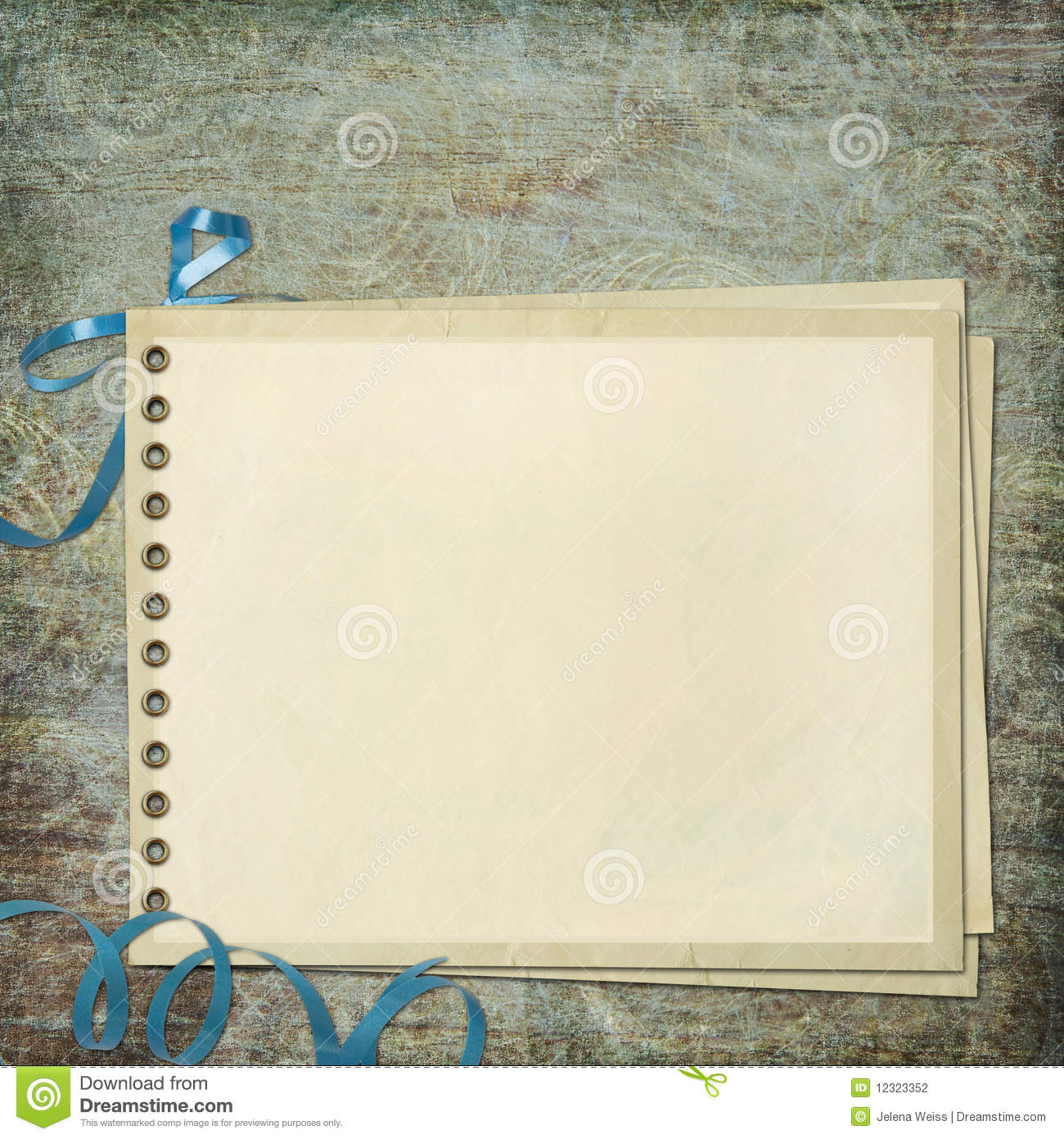 Scrapbook paper note - Blank Note Paper