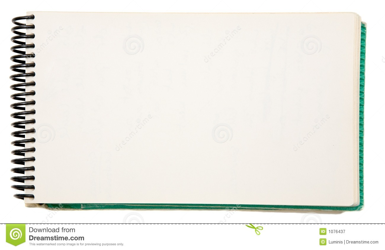 Blank Notebook Royalty Free Stock Photography Image 1076437