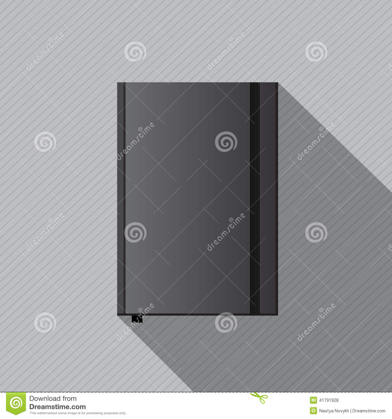 Blank Notebook Cover Template Stock Vector - Image: 41791928