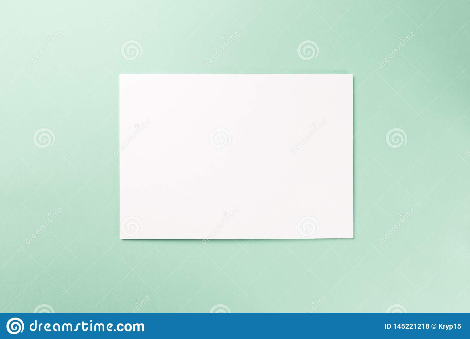 Blank notebook on Mint background
