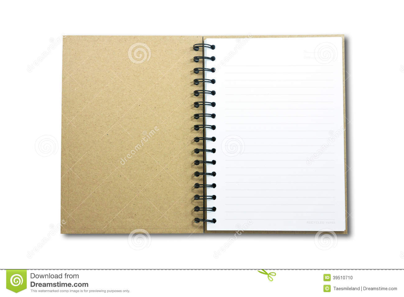 Blank NoteBook open two face