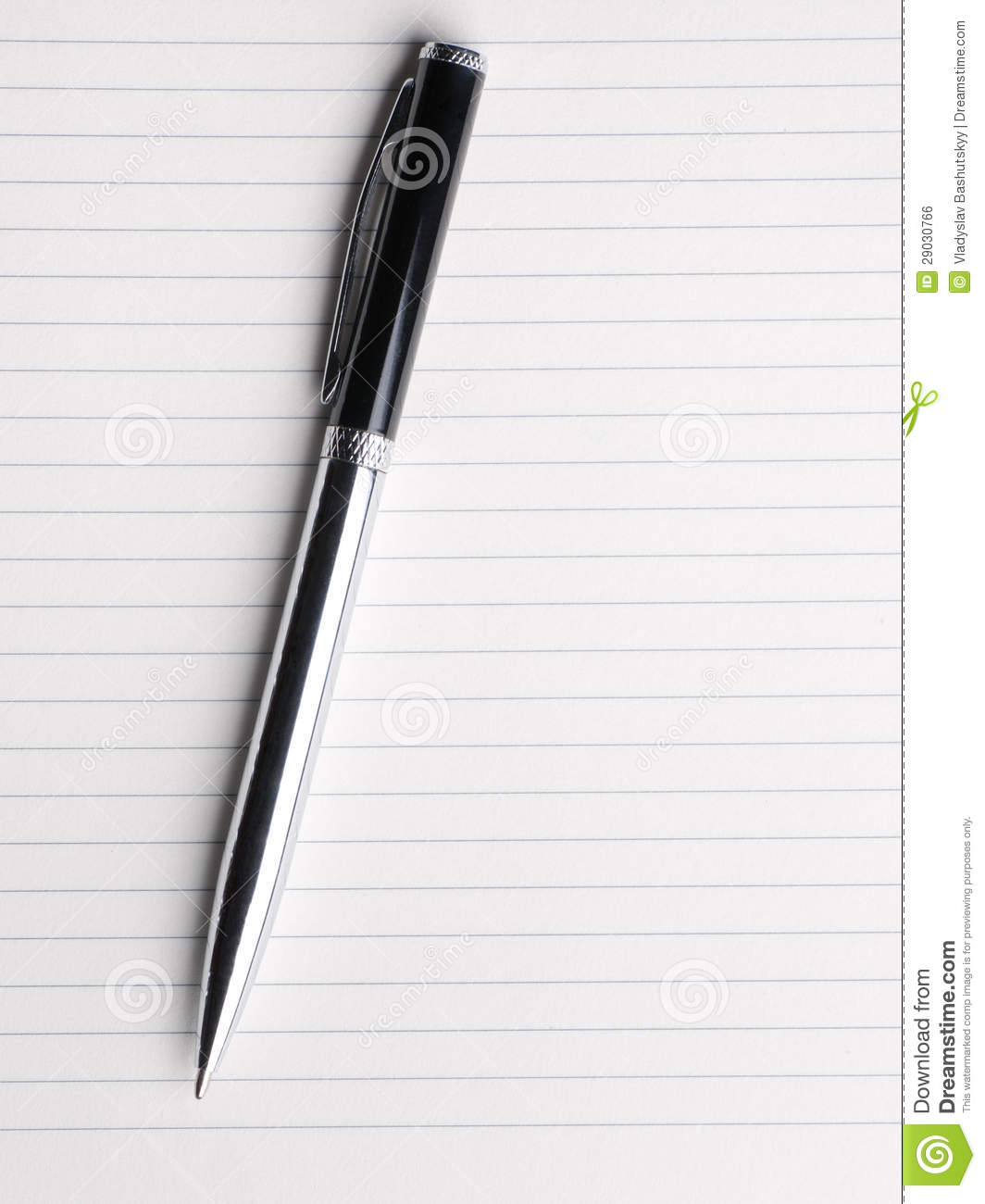 Blank Notebook Paper With Pen Isolated On White Royalty Free