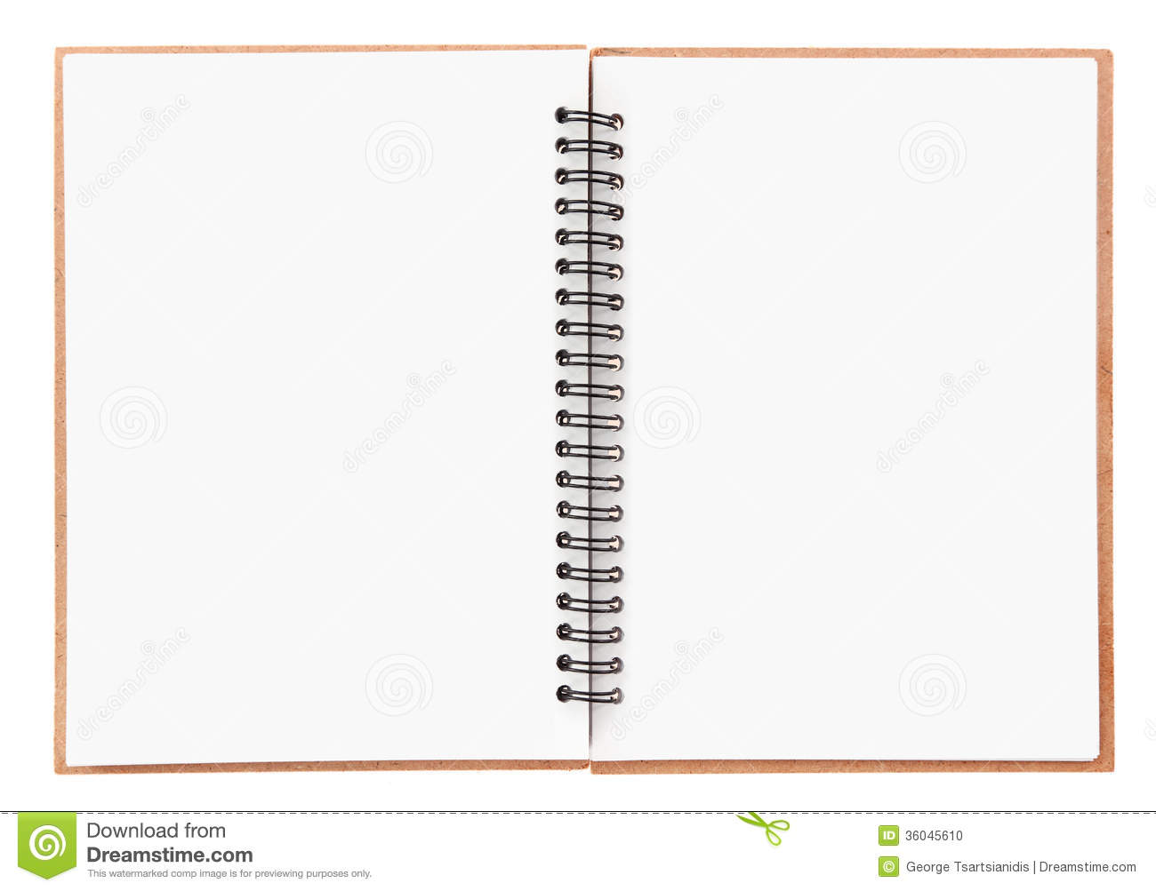Blank Notebook Stock Photo - Image: 36045610